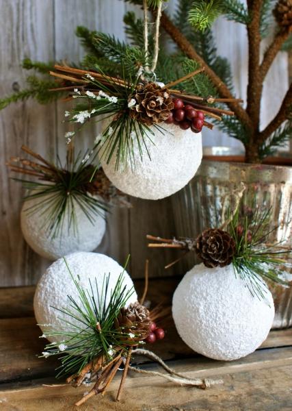 Новогодние шары для елки в стиле Прованс