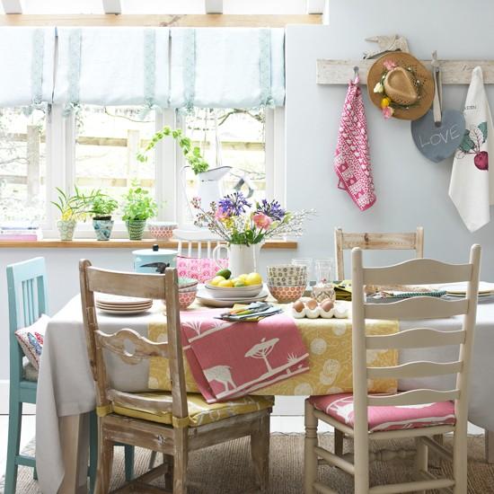 Весеннее настроение в интерьере кухни фото