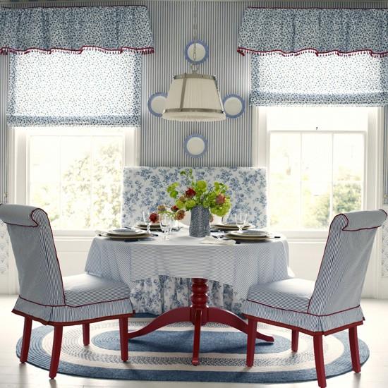 Весенний дизайн интерьера столовой