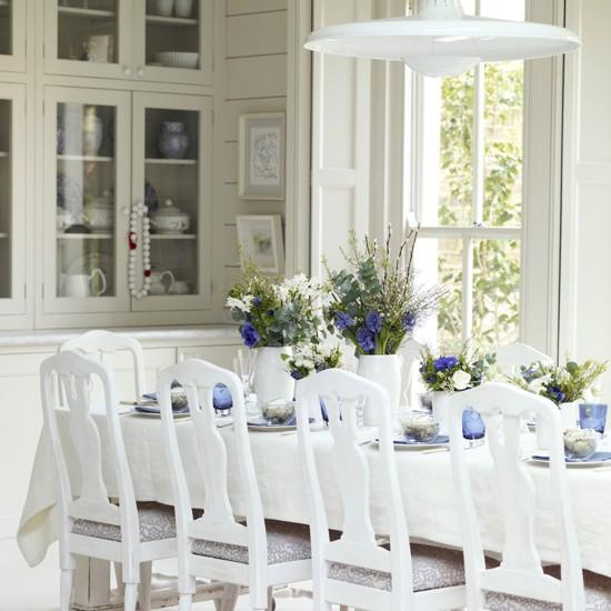 Весенние нотки в интерьере кухни и столовой
