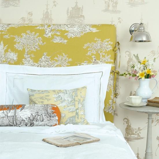 Весенние цвета в интерьере спальни