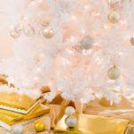 Идеи декора белой новогодней елки - фото в стиле шебби шик и прованс