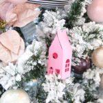 Бело-розовая елка 2019 — фото в современном стиле кантри прованс