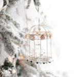 Бело-золотая новогодняя елка - фото 2019 года