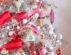 Новогодняя елка 2019 в красно-серебряных тонах фото 2019