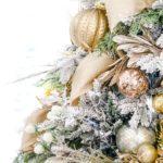Елка в золотых тонах — фото во французском стиле прованс