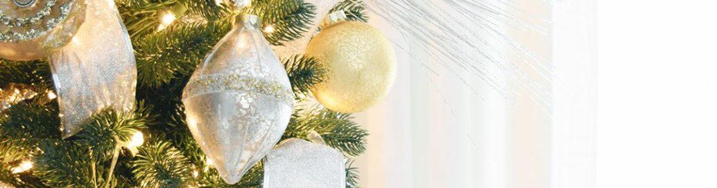 Новогодняя елка золото с серебром - фото 2019 года