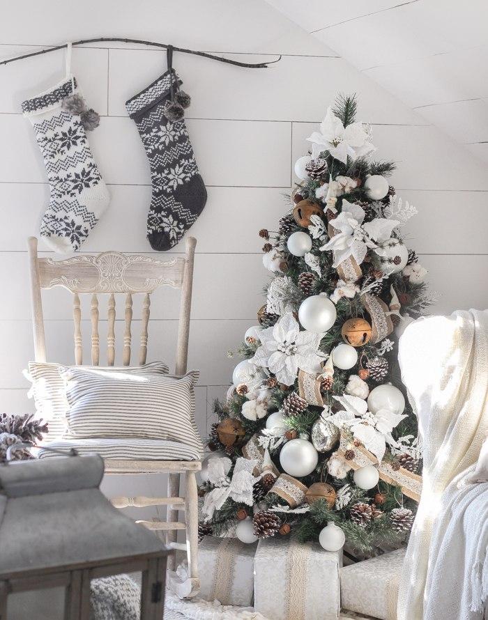 Идеи декора новогодней комнаты - фото 2019 в стиле кантри прованс