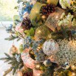 Фото идеи украшения новогодней елки 2019 в стиле деревенского прованса
