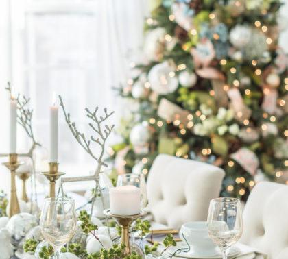 Как украсить новогодний стол 2019 в золотом цвете
