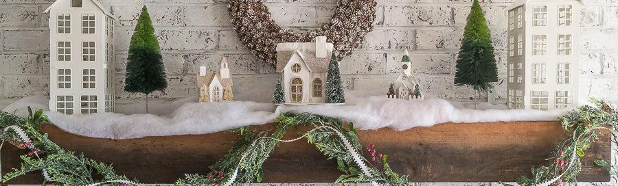 Красивые новогодние домики фото