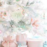 новогодняя елка в белом цвете - фото 2019 в стиле прованс