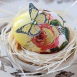 Красивый декупаж пасхальных яиц — фото в стиле кантри
