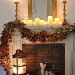Осенняя гирлянда из листьев — фото в стиле рустикального кантри