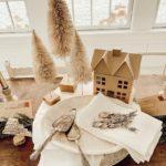 Винтажная сервировка обеденного стола на Новый год и Рождество