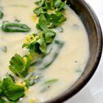 Французский суп с сыром и шпинатом