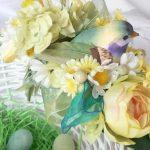 Украшение пасхальных корзин цветами: мастер-класс